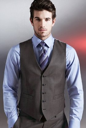 Жилет с галстуком