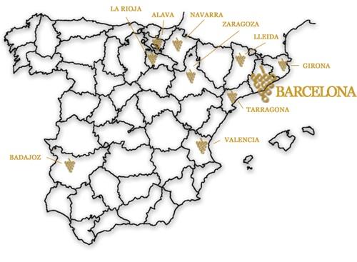 Карта Cava DO
