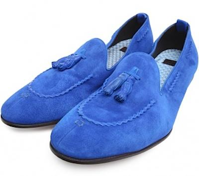 Синие лоаферы Raparo