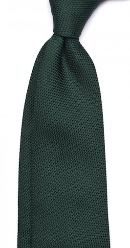 Bottle green grenadine tie