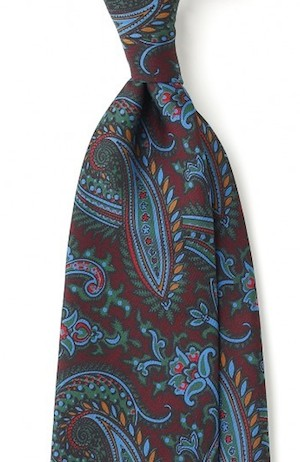 Drakes ancient madder silk tie