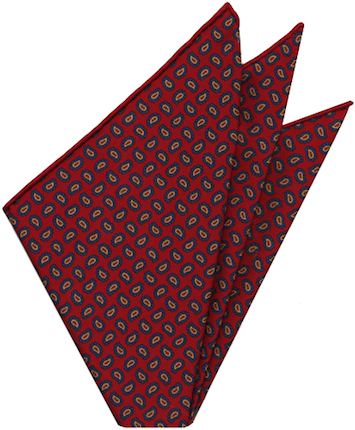 Madder silk pocket square