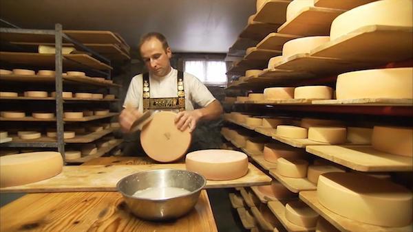 Appenzellerland-Kaeseherstellung