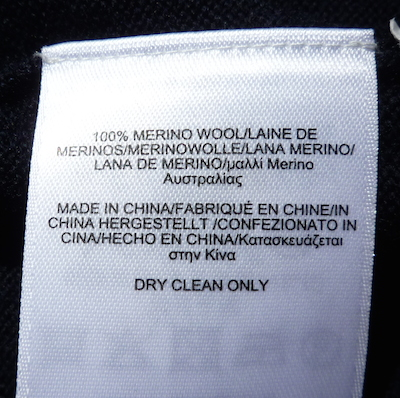 BB vest label