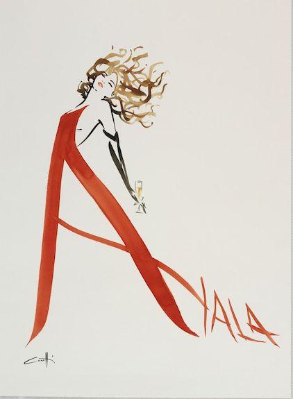Ayala vintage poster