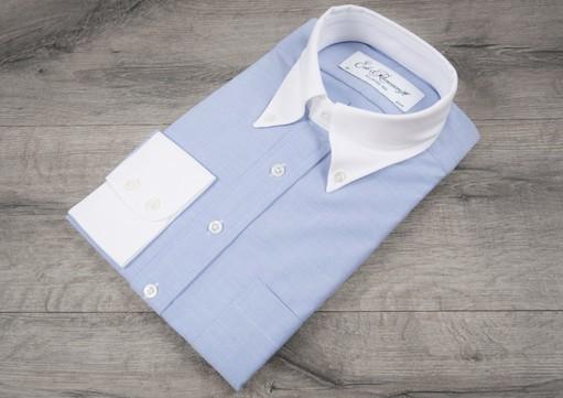 рубашка с белым воротником
