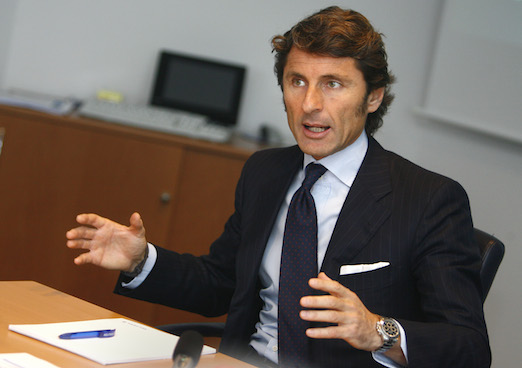 Winkelmann, President and CEO of Italian car manufacturer Automobili Lamborghini talks to journalists during an exclusive interview at the Reuters Auto Summit in Frankfurt