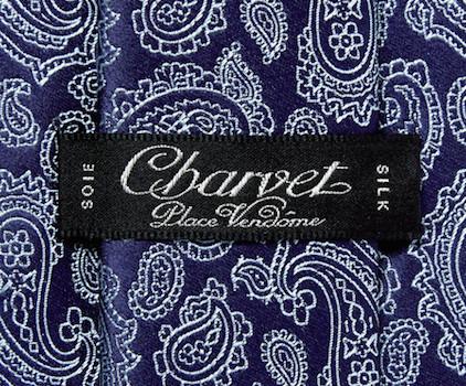 Charvet tie - label