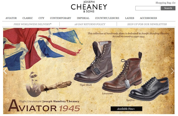 Cheaney website