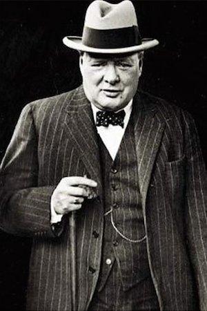 Черчилль во фланелевом костюме