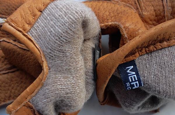 кашемировая подкладка в перчатках