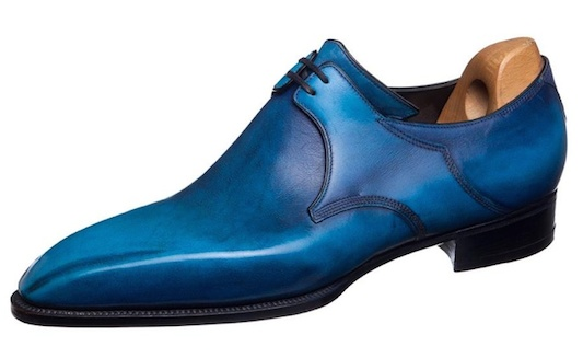 Corthay blue shoes