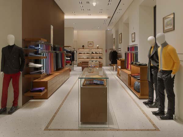Интерьер миланского магазина Hermes (1)