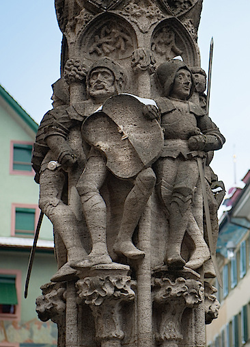 Weinmarkt Fountain, Old Town, Lucerne, Switzerland