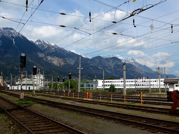 Innsbruck view near railway station