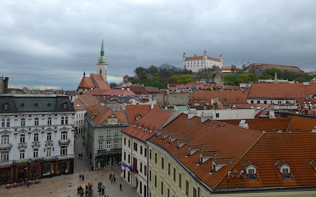 Вид на Братиславский замок