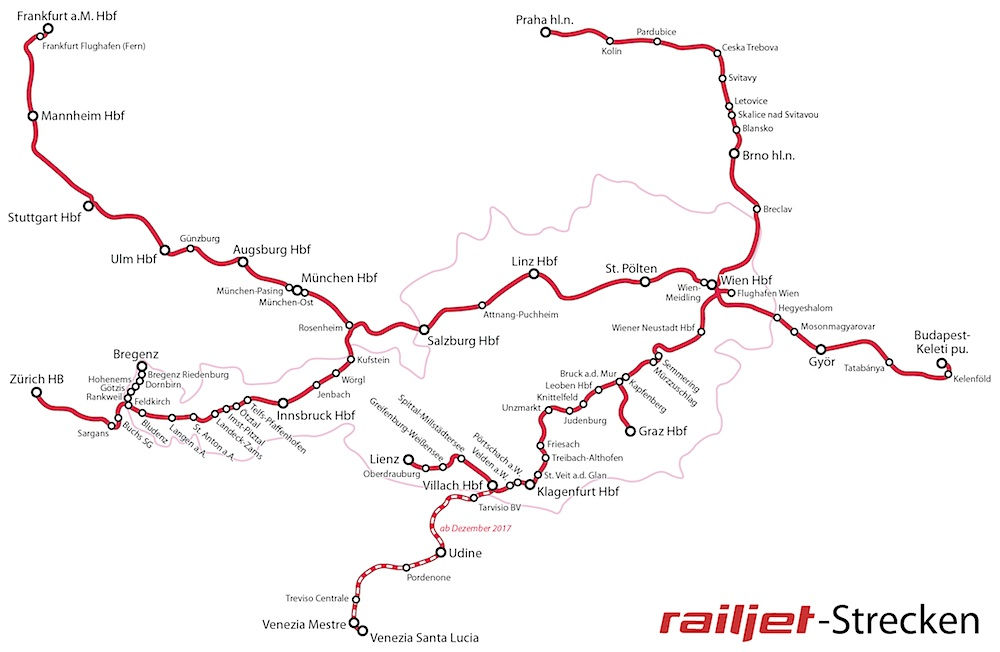 Railjet-map