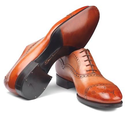 Талия fiddle на туфлях Santoni