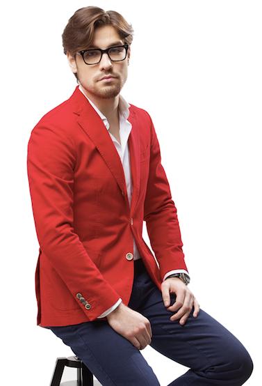 Красный пиджак Gents' Stuff by Harridge