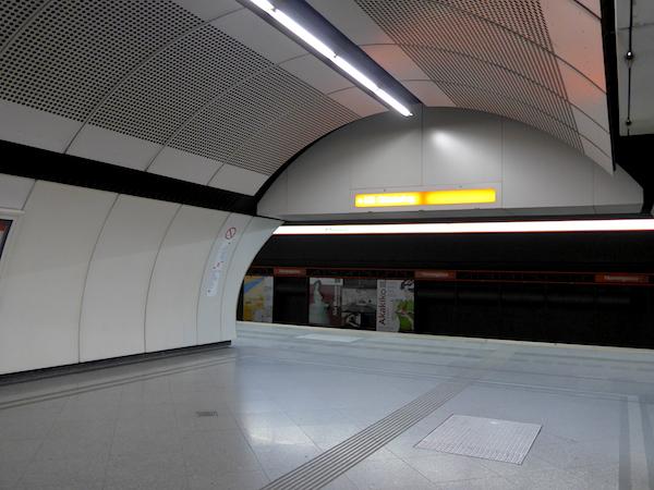 Венское метро - интерьер