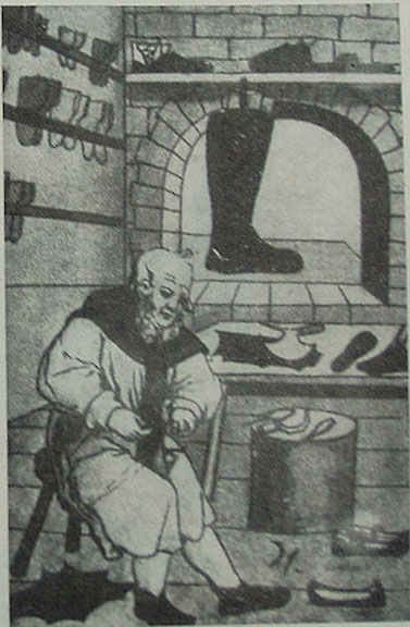 Место работы венгерского обувщика (позднее Средневековье)