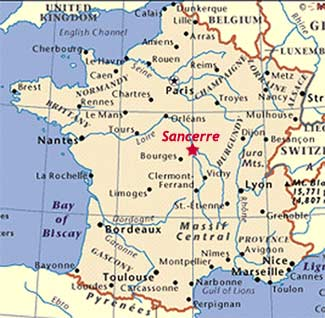 Sancerre-on-Map