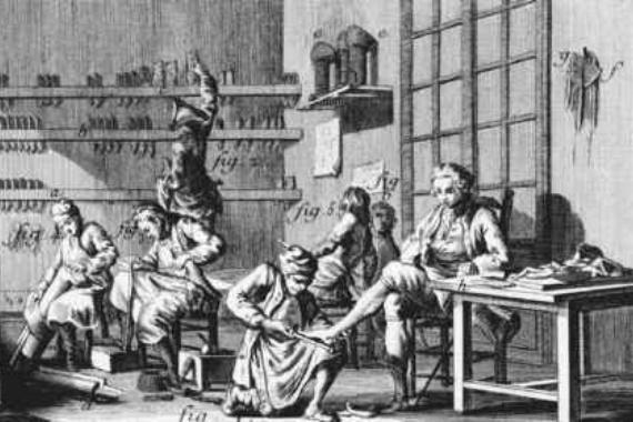 Снятие мерок в ателье Шеера (XIX век)