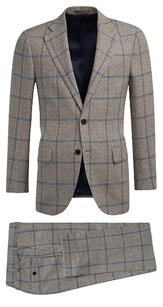 Suitsupply check suit