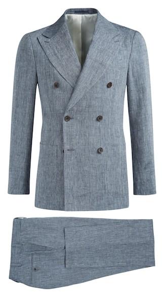 Двубортный костюм Suitsupply