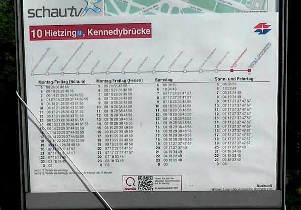 Timetable_Wien-tram1