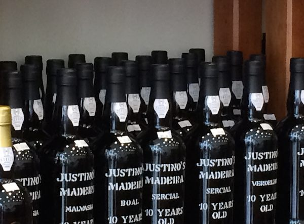 justino's 10 year old sercial Madeira wine