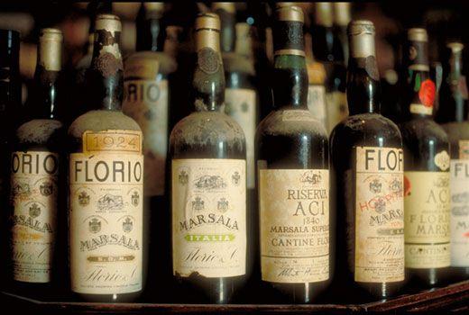 Marsala bottles