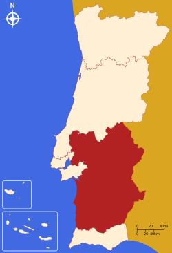 Alentejo - map