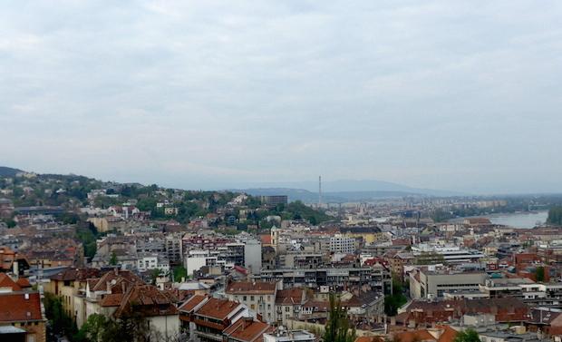 Вид с Рыбацкого бастиона в Будапеште