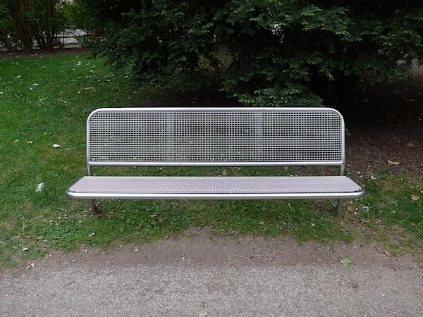 Тренто - скамейка из металла