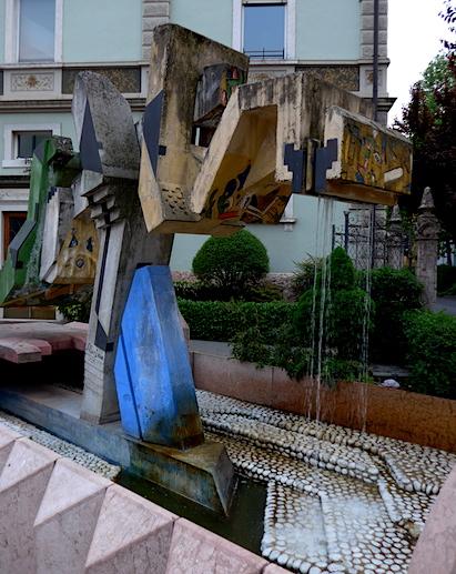 Тренто - современный фонтан