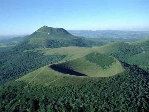 Volvic volcanos