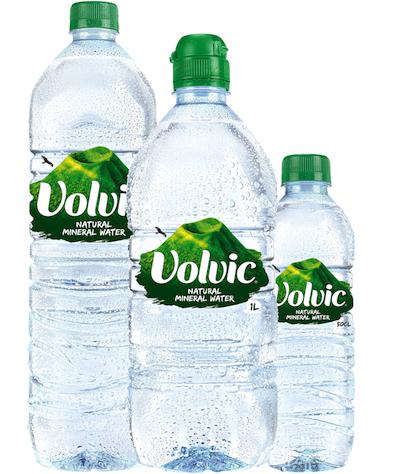 Volvic bottles