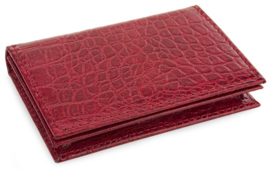 bonded crocodile leather embossed