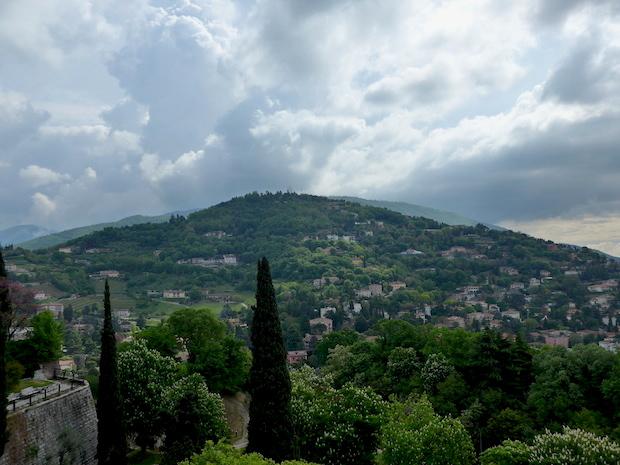 Замок в Брешии - панорама