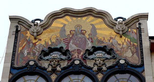 Мозаика на фасаде банкирского дома Тёрёк
