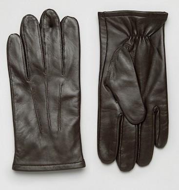 Темно-коричневые перчатки