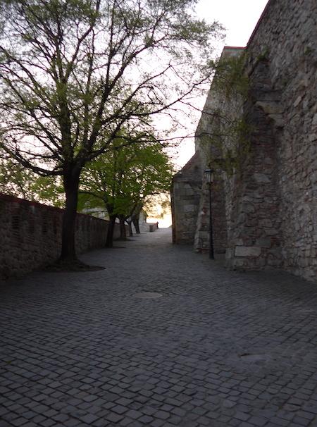 стена замка в Братиславе