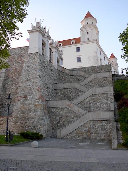 Лестница - замок в Братиславе