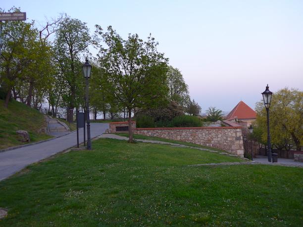 Парк в братиславском замке