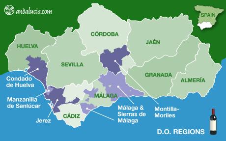 Винная карта Андалусии