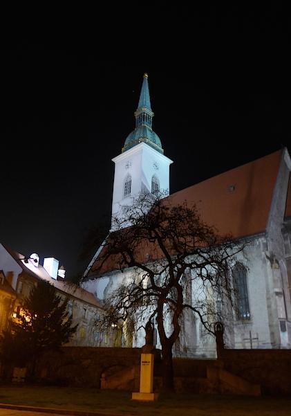 Подсветка собора Святого Мартина