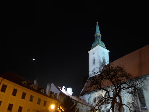 Собор Святого Мартина ночью