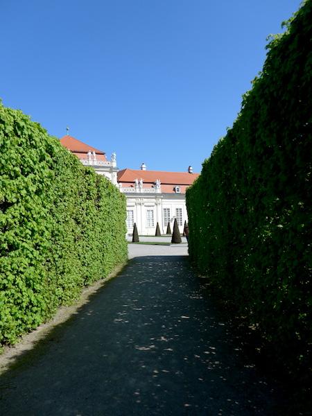 Аллея в садах Бельведера