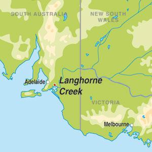 Langhorne Creek - map